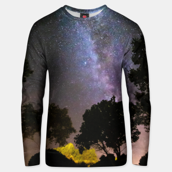 Imagen en miniatura de Trees landscape with milky way Unisex sweater, Live Heroes