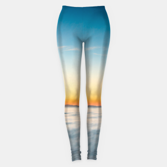 Thumbnail image of Magical sunrise above clouds Leggings, Live Heroes