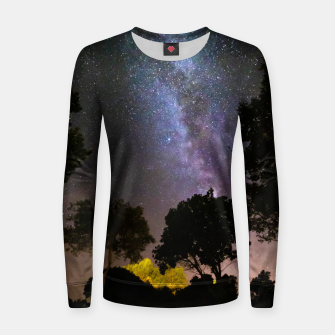 Imagen en miniatura de Trees landscape with milky way Women sweater, Live Heroes
