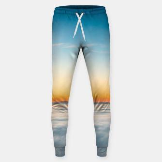 Thumbnail image of Magical sunrise above clouds Sweatpants, Live Heroes