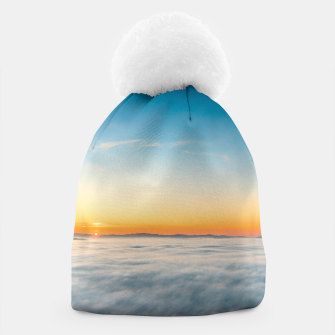 Thumbnail image of Magical sunrise above clouds Beanie, Live Heroes