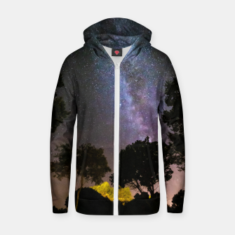 Imagen en miniatura de Trees landscape with milky way Zip up hoodie, Live Heroes