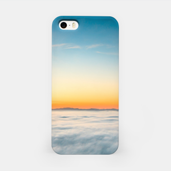 Thumbnail image of Magical sunrise above clouds iPhone Case, Live Heroes