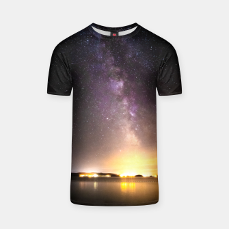 Thumbnail image of Seascape with milky way T-shirt, Live Heroes