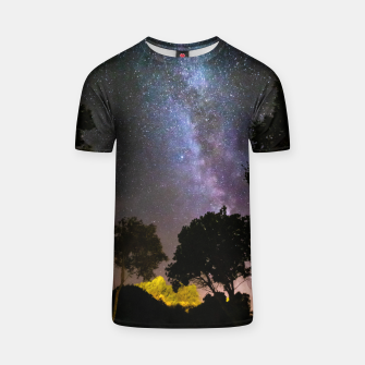 Thumbnail image of Trees landscape with milky way T-shirt, Live Heroes
