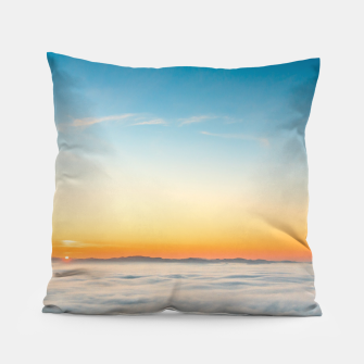 Thumbnail image of Magical sunrise above clouds Pillow, Live Heroes