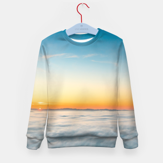 Thumbnail image of Magical sunrise above clouds Kid's sweater, Live Heroes