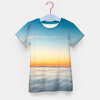 Thumbnail image of Magical sunrise above clouds Kid's t-shirt, Live Heroes