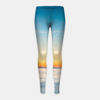 Thumbnail image of Magical sunrise above clouds Girl's leggings, Live Heroes
