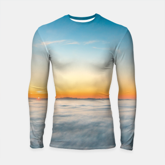 Thumbnail image of Magical sunrise above clouds Longsleeve rashguard , Live Heroes