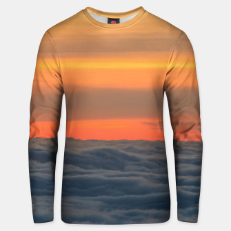 Thumbnail image of Magical sunset above the clouds Unisex sweater, Live Heroes