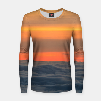 Miniatur Magical sunset above the clouds Women sweater, Live Heroes