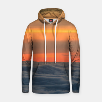 Thumbnail image of Magical sunset above the clouds Hoodie, Live Heroes