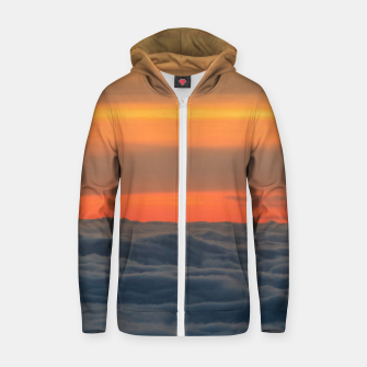 Thumbnail image of Magical sunset above the clouds Zip up hoodie, Live Heroes