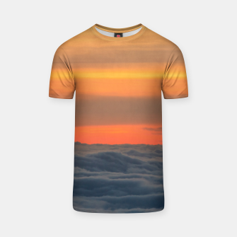 Thumbnail image of Magical sunset above the clouds T-shirt, Live Heroes