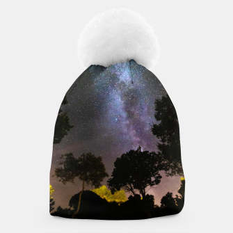 Thumbnail image of Trees landscape with milky way Beanie, Live Heroes