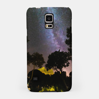 Thumbnail image of Trees landscape with milky way Samsung Case, Live Heroes