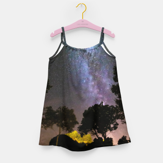 Imagen en miniatura de Trees landscape with milky way Girl's dress, Live Heroes