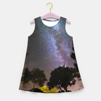 Imagen en miniatura de Trees landscape with milky way Girl's summer dress, Live Heroes