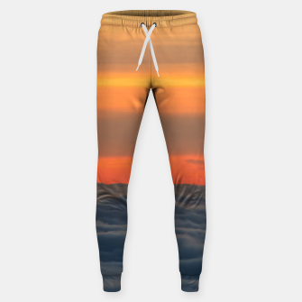 Thumbnail image of Magical sunset above the clouds Sweatpants, Live Heroes
