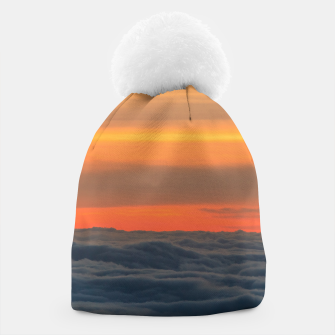 Miniatur Magical sunset above the clouds Beanie, Live Heroes