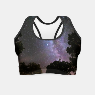 Imagen en miniatura de Trees landscape with milky way Crop Top, Live Heroes