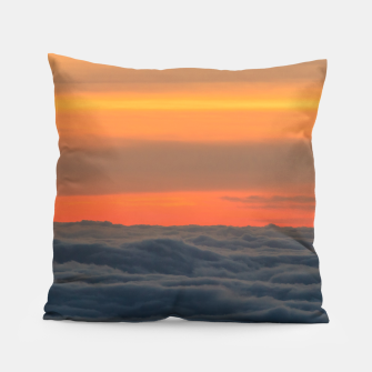 Thumbnail image of Magical sunset above the clouds Pillow, Live Heroes