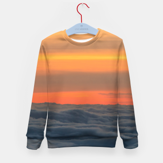 Miniatur Magical sunset above the clouds Kid's sweater, Live Heroes