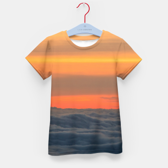Thumbnail image of Magical sunset above the clouds Kid's t-shirt, Live Heroes
