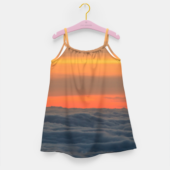 Miniatur Magical sunset above the clouds Girl's dress, Live Heroes