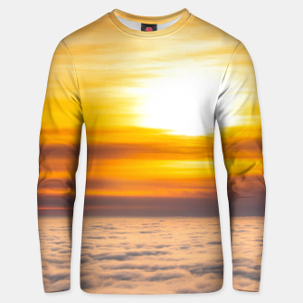 Thumbnail image of Stunning sunset above the clouds Unisex sweater, Live Heroes