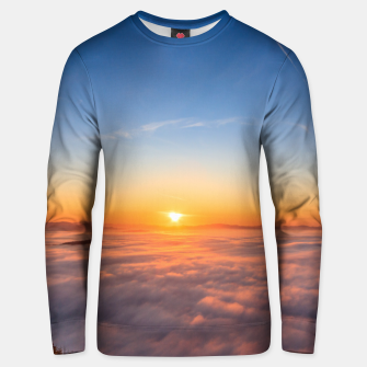Thumbnail image of Sun peaking above clouds in the morning Unisex sweater, Live Heroes