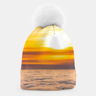 Thumbnail image of Stunning sunset above the clouds Beanie, Live Heroes