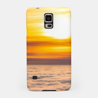 Miniatur Stunning sunset above the clouds Samsung Case, Live Heroes