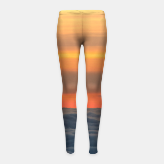 Thumbnail image of Magical sunset above the clouds Girl's leggings, Live Heroes
