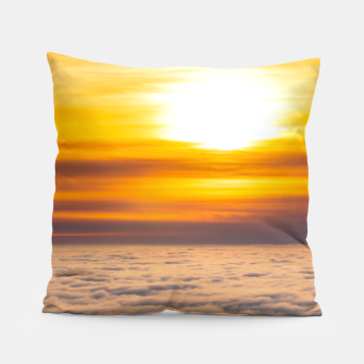 Thumbnail image of Stunning sunset above the clouds Pillow, Live Heroes