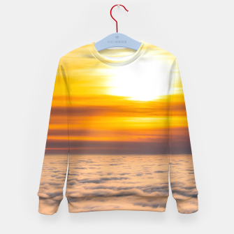 Thumbnail image of Stunning sunset above the clouds Kid's sweater, Live Heroes