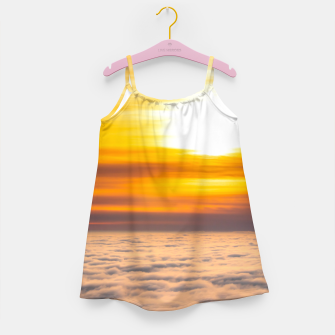 Miniatur Stunning sunset above the clouds Girl's dress, Live Heroes