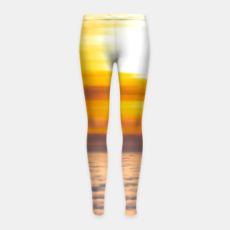 Thumbnail image of Stunning sunset above the clouds Girl's leggings, Live Heroes