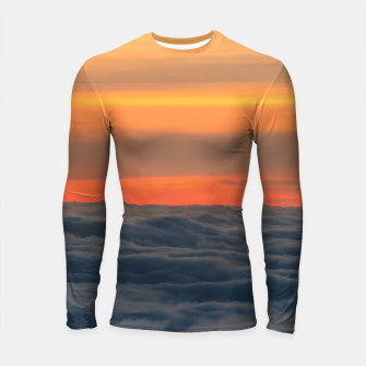 Thumbnail image of Magical sunset above the clouds Longsleeve rashguard , Live Heroes
