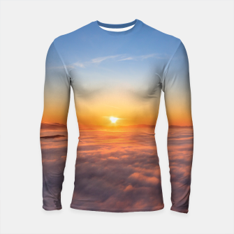 Thumbnail image of Sun peaking above clouds in the morning Longsleeve rashguard , Live Heroes