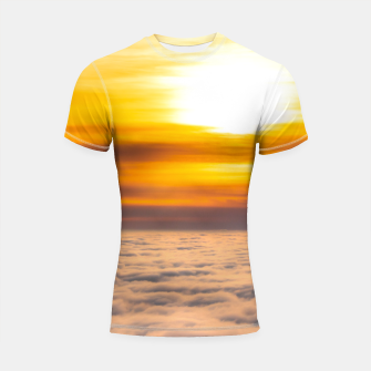 Miniaturka Stunning sunset above the clouds Shortsleeve rashguard, Live Heroes