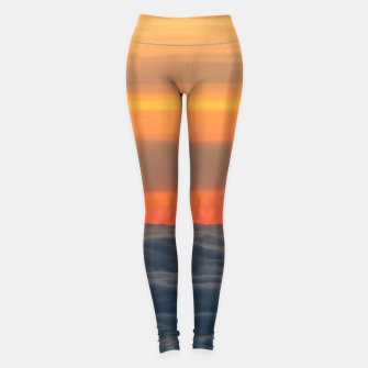 Thumbnail image of Magical sunset above the clouds Leggings, Live Heroes