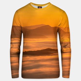 Thumbnail image of Sunrise colors and clouds Unisex sweater, Live Heroes
