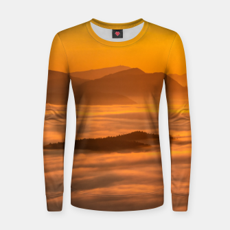 Miniaturka Sunrise colors and clouds Women sweater, Live Heroes