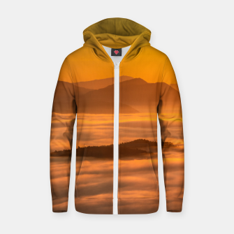Miniaturka Sunrise colors and clouds Zip up hoodie, Live Heroes