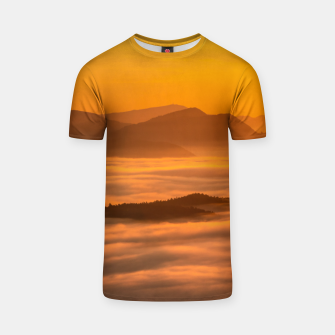 Miniaturka Sunrise colors and clouds T-shirt, Live Heroes