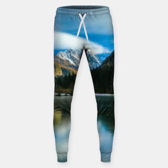 Thumbnail image of Beautiful lake with mountains in background in Zgornje Jezersko Sweatpants, Live Heroes