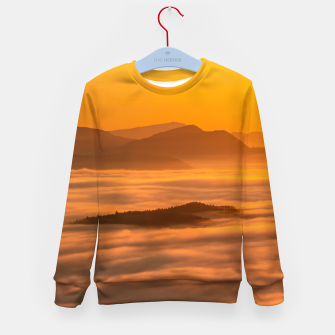 Miniaturka Sunrise colors and clouds Kid's sweater, Live Heroes