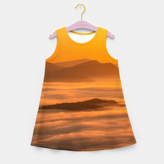 Miniaturka Sunrise colors and clouds Girl's summer dress, Live Heroes